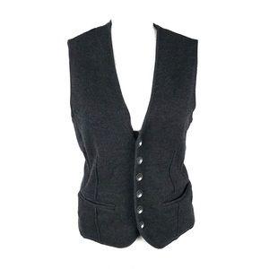Rag & Bone vest jacket sleeveless medium gray